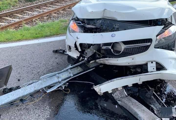 Verkehrsunfall (T1) am Bahnhof
